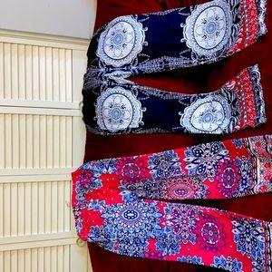 Silk multicolored small pants